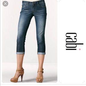 CAbi Johnny crop jeans size 4 EUC